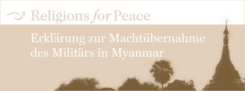 Religions for Peace zum Putsch in Myanmar